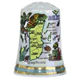 Belize Central America Map Pearl Souvenir Collectible Thimble agc