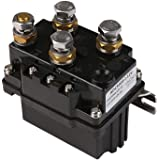 ZESUPER Winch Solenoid 12V 500 A Relay Contactor Solenoid Relay for 8000-15000lb ATV UTV Truck Winch Replacement