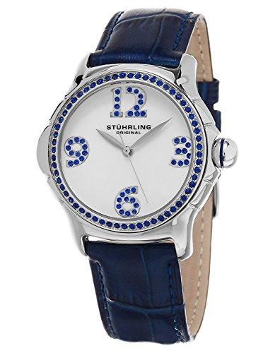 Stuhrling Original Women's 592.01 Vogue Leather Strap Quartz Watch