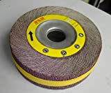 Premium FLAP WHEEL 6'' x 1-1/2'' with 1'' bore Unmounted 180 grit