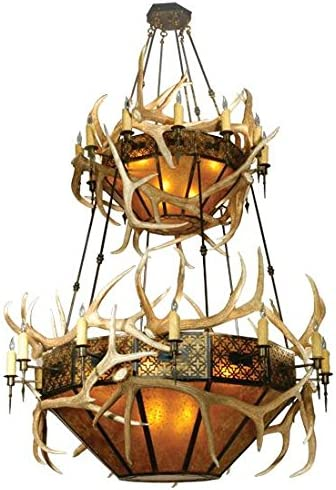 Meyda Tiffany 81332 Rustic 40 Light Chandelier from Antlers Collection in Antique Copper Finish, 68.00 inches