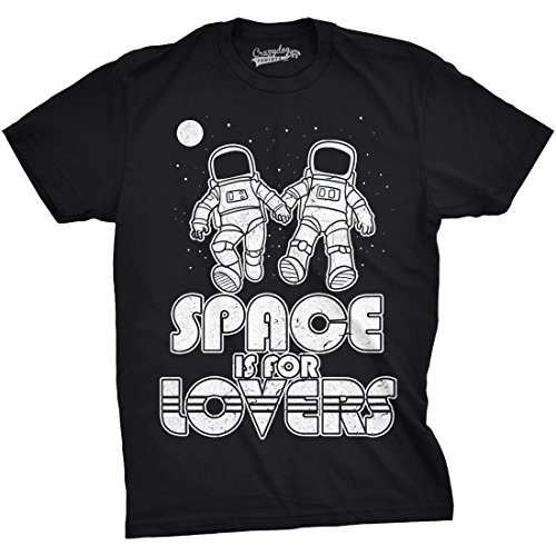 Crazy Dog TShirts - Mens Space Is For Lovers Funny T shirts Cute Love Shirt Astronaut Novelty T shirt - herren -