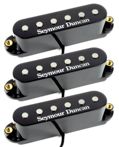 Seymour Duncan STK-S4s Classic Stack Plus Strat Bridge 3 Pickup Neck/Mid/Bridge Set, Black