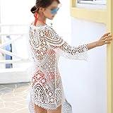 nabati Robe de plage en crochet pour femme - Blanc
