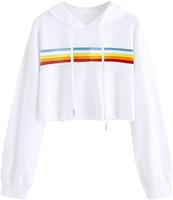 Girls Rainbow Crop Top
