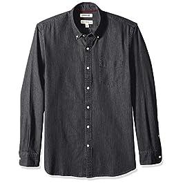 Amazon Brand – Goodthreads Men's Standard-Fit Long-Sleeve Denim Shirt