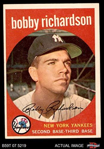 1959 Topps # 76 Bobby Richardson New York Yankees (Baseball Card) Dean's Cards 5 - EX Yankees (Richardson Bobby Baseball)