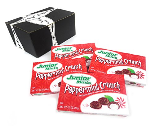 Junior Mints Peppermint Crunch, 3.5 oz Boxes in a BlackTie B