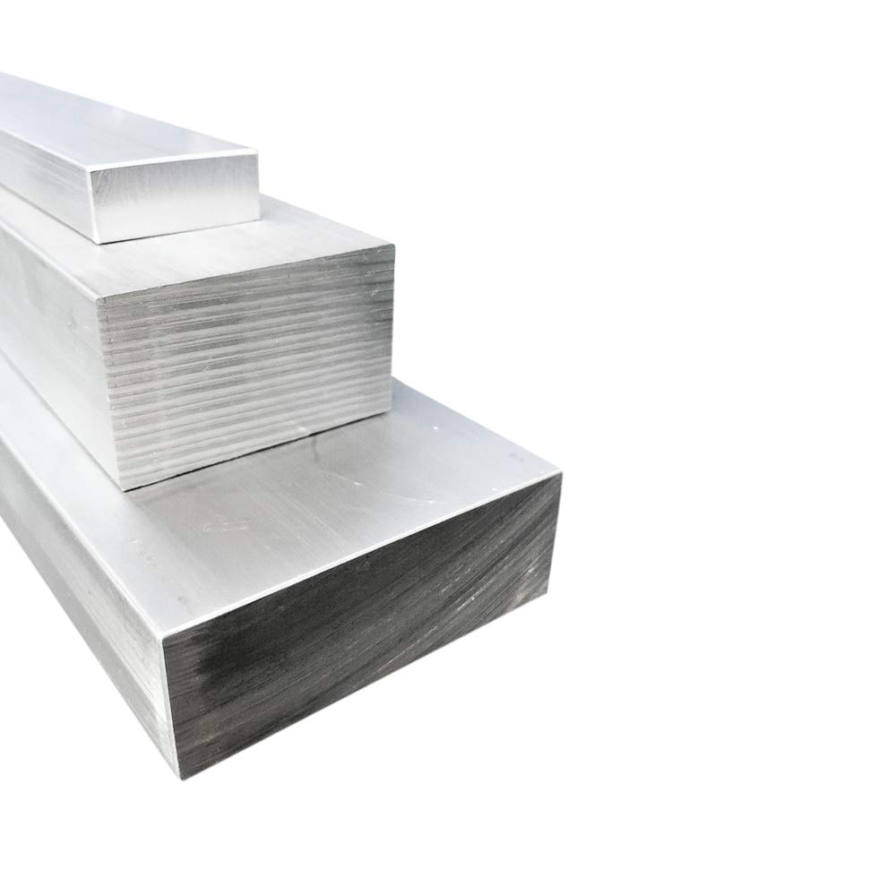 Barra plana de aluminio de 60 x 40 mm AlMgSi1, 300mm