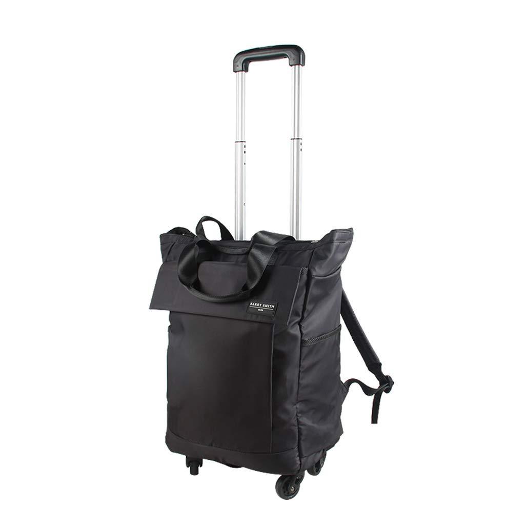 トラベルバックパックフライト承認キャリングバッグ17インチトラベルハンドラゲッジバッグ、ユニバーサルホイールトローリーケース女性のバッグ - 34cm * 20cm * 58cm   B07KHDNPC7