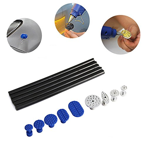WHDZ Car Dent Puller, Auto Body Dent Removal Tools Kit Silde Hammer with 9 Pcs Glue Puller Tabs Glue Sticks Hail Damage Remaol Kit for Car Body Dent Repair by WHDZ (Image #2)'