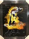 JuJu Smith-Schuster Signed Custom Over Burfict Explosion Canvas - Professionally Framed - Autographed NFL Art