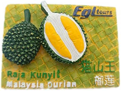 Cat Three King Durian Malaysia 3D Refrigerator Fridge Magnet Travel City Souvenir Collection Kitchen Decoration White Board Sticker Resin