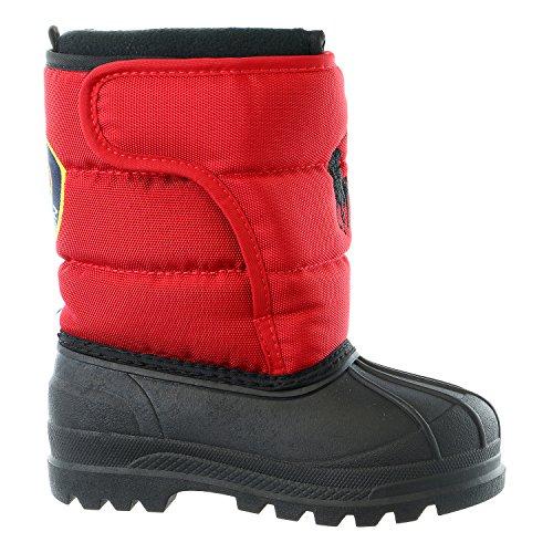 Polo Ralph Lauren Kids Hamilten II EZ Winter Fashion Boot (Toddler/Little Kid/Big Kid), Red/Black, 9 M US Toddler