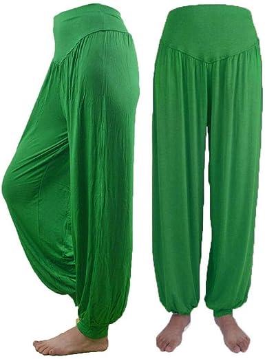 Pantalones Harem Mujer Anchas Casual Pantalones Solido Casual Color Modernas De Tiempo Libre Verano Elegantes Largo Elastische Taille Pluderhose Pantalon Deportiva Yoga Danza Amazon Es Ropa Y Accesorios