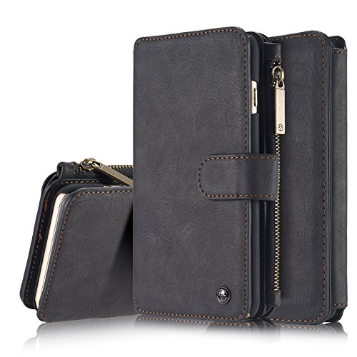 Businda iPhone 11 Pro Max 6.5 inch Wallet Case,2019 Luxury Leather Wallet with Viewing Stand and Card Slots, Multi-Function Button Zipper & Card Slots for iPhone XI Pro Max (6.5 inch,Black) by Businda