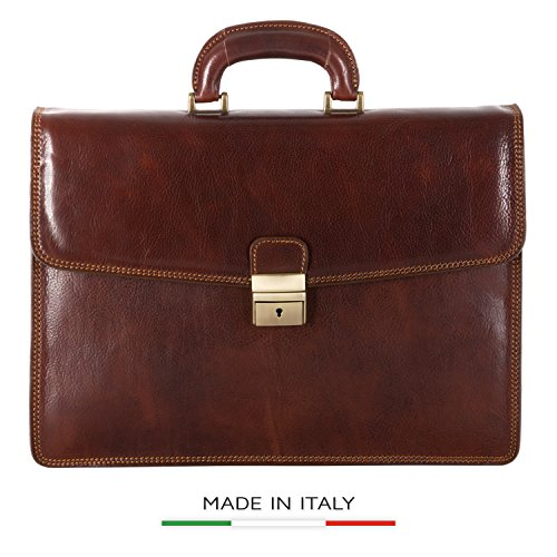 Luggage Depot USA, LLC Men's Alberto Bellucci Italian Lea...
