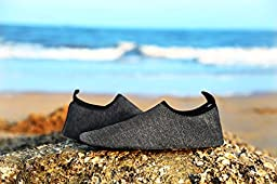 Men and Women Barefoot Quick-Dry Aqua Water Shoes(Van29301603Black40)
