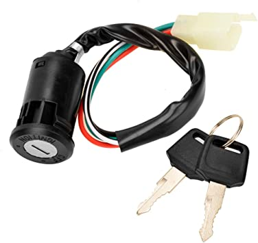 2pcs of Ignition Switch with Keys for Universal ATV Bike 4 Wires 4 Pins