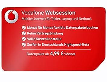 Vodafone Neue Sim Karte Kosten.Vodafone Websessions Kombi Sim Karte Mit Datentarif Amazon
