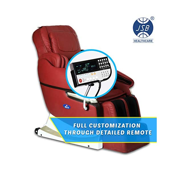 51OPecAm0vL JSB MZ15 Full Body Massage Chair with Powerful 3D Back & Leg Massage (Red)