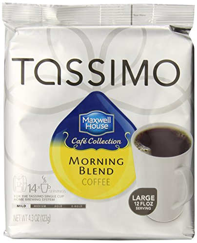 Tassimo Maxwell House Cafe Collection Mild Morning Blend Coffee 14-Count (Pack of 2) ()