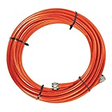 SureCall 30 ' SC400 Ultra Low Loss Coax Plenum Fire Rated Cable with N-Male connectors for All Cellular devices - Orange