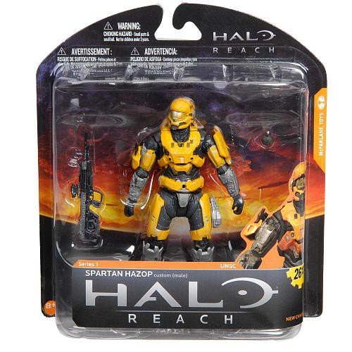 Halo Reach McFarlane Toys Series 1 Exclusive Action Figure GOLD / STEEL Spartan Hazop Custom - Spartan Halo Gold