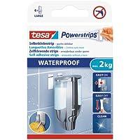 tesa Powerstrips Waterproof Dubbelzijdige Kleefstrips Large - dragen tot 2 kg, voor natte ruimtes