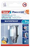 tesa Powerstrips Waterproof Removable Adhesive Strips for Bathrooms or Humid Areas -White- 6 Strips