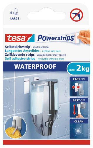 Tesa 59700-00000-00 Powerstrips Waterproof Large Striscia Adesiva 59700-00003-00