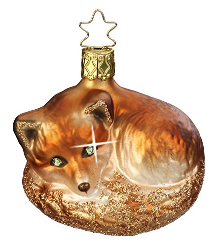 Inge Glas Fox Night Fox 1-022-15 German Blown Glass Chris...