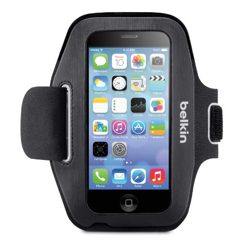 - Belkin Sport-Fit Armband for iPhone 5 / 5S / 5c / SE (Black/Overcast)