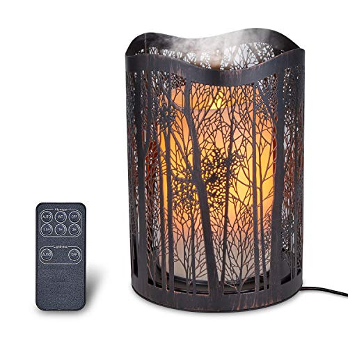 Candle Light Aromatherapy Essential Oil Diffuser,Humidifier,Ultrasonic,Quiet,Cool Mist,Adjustable Mode,Time Setting,Color Light Changing,Waterless Auto Off,for Baby,Home, Office,Gifts,Yoga,Zen