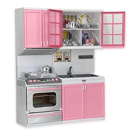 zimo - Juguetes de Cocina para Niños Cocinero Gabinete Estufa Infantil Juego de Imaginación Color Rosa Regalo para Niñas Niños: Amazon.es: Juguetes y juegos