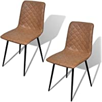 vidaXL Dining Chairs 2/4/6 pcs Artificial Leather Grey/Brown