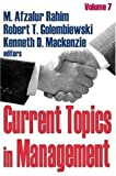 img - for Current Topics in Management book / textbook / text book