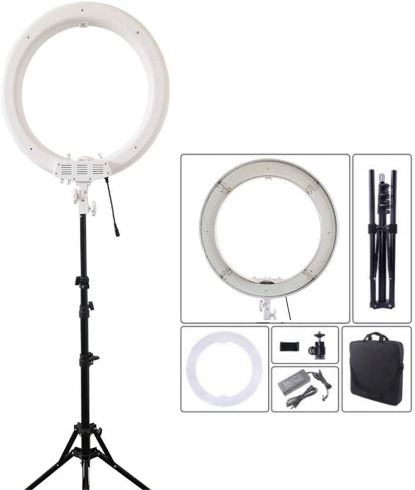 TAESOUW-Accessories 18 Inch Ringlight Flashes Led Video Ring Fill Light White Anchor Live Beauty Portrait Soft Light Fill Light Bracket Color Shows, Size : 18inch