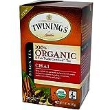 Twinings Chai Organic Tea, 20 Count Tea Bags 1.41 Ounce