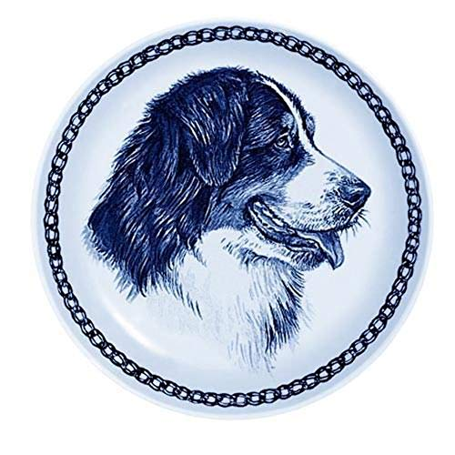 - Bernese Mountain Dog - Dog Plate made in Denmark from the finest European Porcelain. Premium Quality and Design from Lekven. Perfect Gift For all Dog Lovers. Size - 7.61 inches.