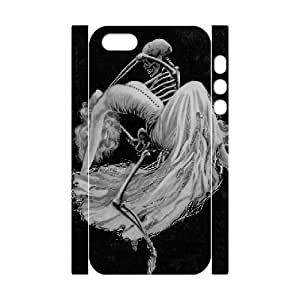 3D Skeleton Death Leaves a Hearache IPhone 5,5S Case, Dustin - White