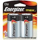 Energizer E95BP-2 D Cell Alkaline Batteries 2 Batteries per Package