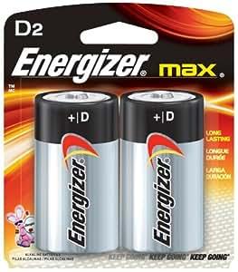 Eveready Battery Company E95BP-2(GE) Energizer Max Battery D - Cd/2