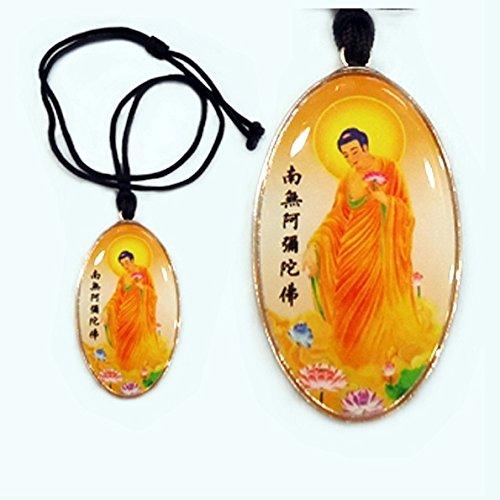 usongs Buddha amulet necklace pendant Namo Amitabha become attached mascot Lucky Charm Jewelry
