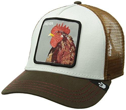 Peck Gorra Goorin amarilla Peck Bros trucker y blanca de Amarillo gallo xfX7ax