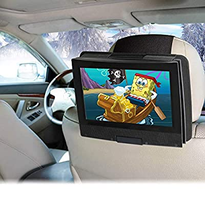 Easyget Portable DVD Player Headrest Mount for 7 Inch to 11 Inch Swivel and Flip Style Portable DVD Players - Black - Angle Adjustable and Screen Rotatable: Car Electronics