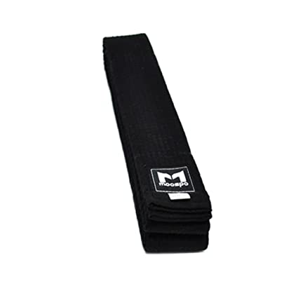 TAEKWONDO BLACK BELT Moospo 6cm width TKD uniform DAN Band Kendo Judo Color
