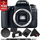 Canon EOS 77D DSLR Digital Camera (Body Only) International Model Bundle