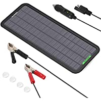 ALLPOWERS 18V 12V 5W Portable Solar Panel with USB Port Solar Panel Battery Charger Maintainer for Automotive Motorcycle…