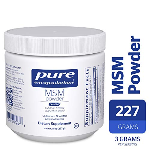 Pure Encapsulations - MSM Powder - Hypoallergenic Supplement Supports Joint, Immune, and Respiratory Health* - 227 Grams